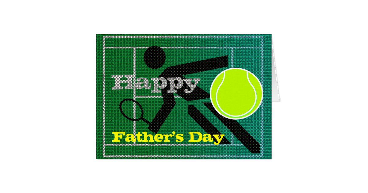 Strange Tennis Dad Happy Fathers Day Card Zazzle Personalised Birthday Cards Cominlily Jamesorg