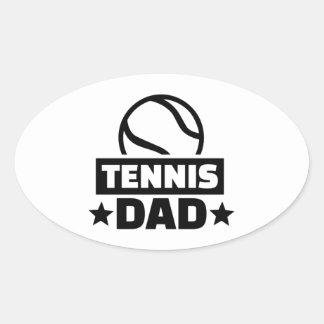 Tennis dad oval sticker