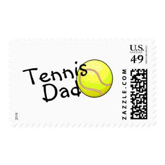 Tennis Dad Postage Stamp