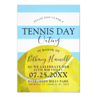 Tennis Day Outing | Tennis Themed Blue Invite
