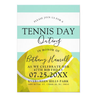 Tennis Day Outing | Tennis Themed Sage Invite