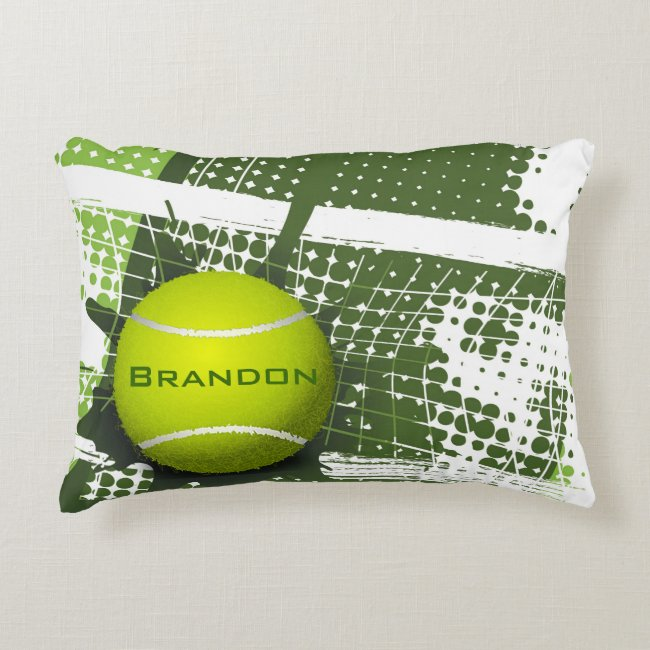 Tennis Design Accent Pillow