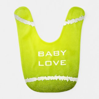 Tennis Design Baby Bib