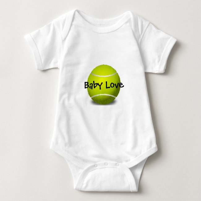 Tennis Design Customizable Baby Clothing