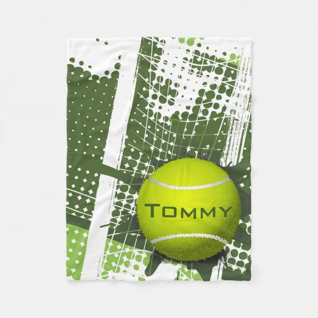 Tennis Design Fleece Blanket
