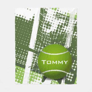 Tennis Design Fleece Blanket