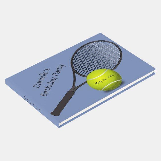 Tennis Design Guest Book