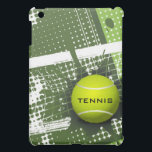 "Tennis Design iPad Mini Case<br><div class=""desc"">Tennis Design iPad Mini Case with customizable text. For no text,  delete sample text and leave text field blank.</div>"