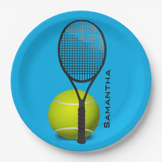 Tennis Design Paper Party Plate