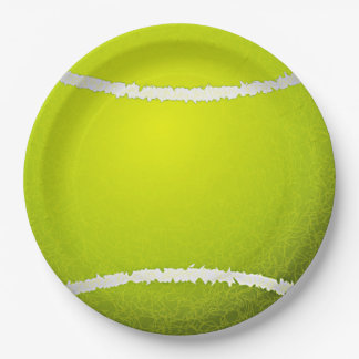 Tennis Design Paper Party Plate 9 Inch Paper Plate