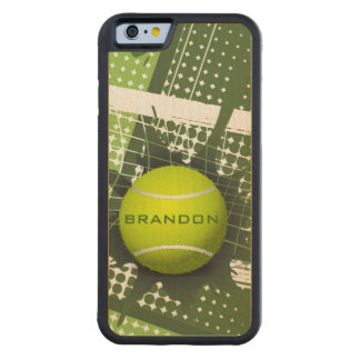 Tennis Design Phone Case Carved® Maple iPhone 6 Bumper Case