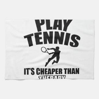 Tennis designs kitchen towel