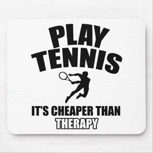 Tennis designs mouse pad