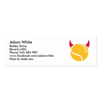 Tennis devil Double-Sided mini business cards (Pack of 20)