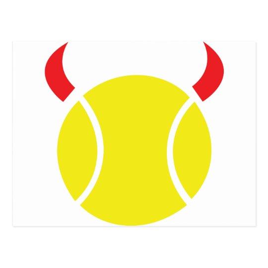 tennis devil postcard
