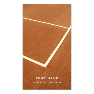 Tennis double-face business card