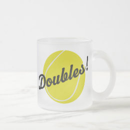 Tennis Doubles Gift Frosted Glass Coffee Mug