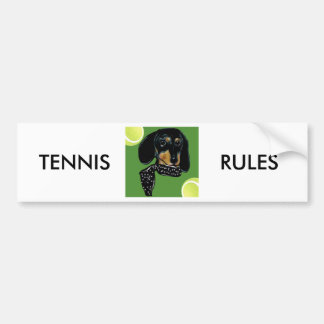 TENNIS DOXIE BUMPER STICKER