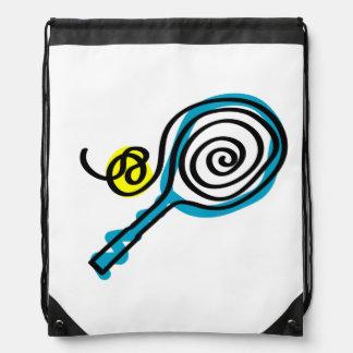 Tennis drawstring bag backpack | ball and racket