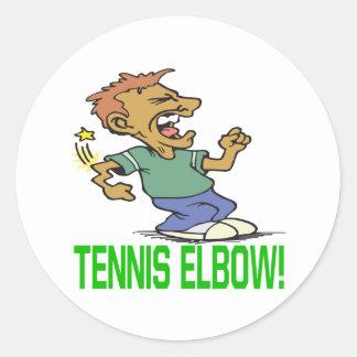 Tennis Elbow Classic Round Sticker