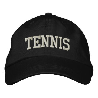 TENNIS EMBROIDERED BASEBALL HAT