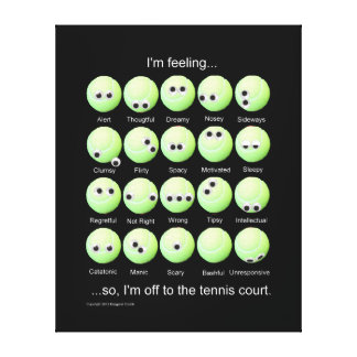 Tennis Emotions Chart Canvas Print