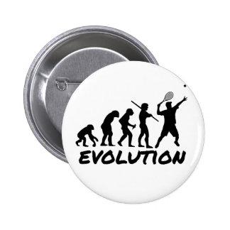 Tennis Evolution Pinback Button