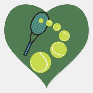 Tennis FAN SLICE SERVE Heart Sticker