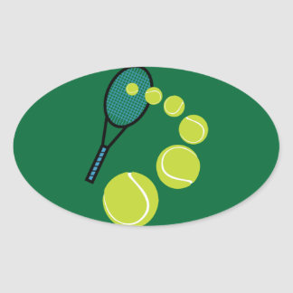 Tennis FAN SLICE SERVE Oval Sticker