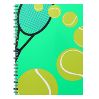 Tennis FAN SLICE SERVE Spiral Notebook