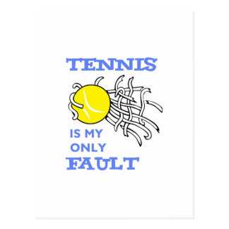 TENNIS FAULT POSTCARD