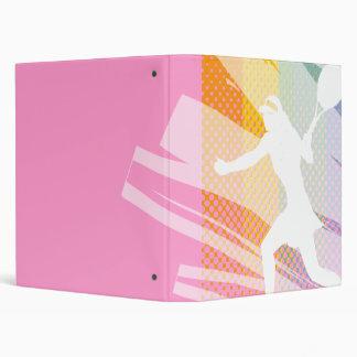 Tennis folder / binder with tennisbabe print pink