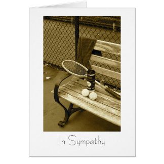 Tennis for sympathy card