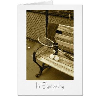 Tennis for sympathy card