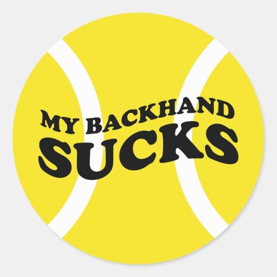 Tennis Funny Sticker - with humorous slogan joke