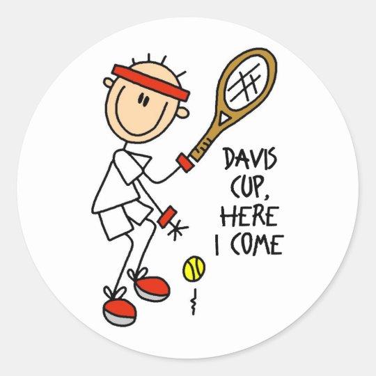 Tennis Gift Classic Round Sticker