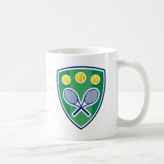 Tennis gift classic white coffee mug