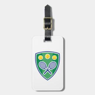 Tennis gift luggage tag