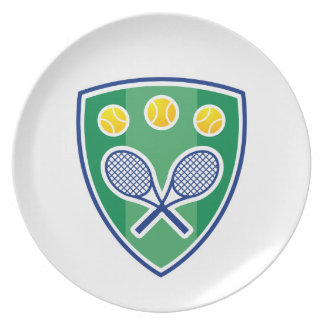 Tennis gift party plates