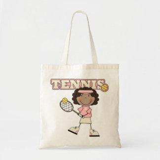 Tennis Girl,African American Tote Bag