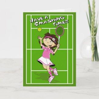 Tennis Girl Birthday Card card