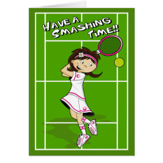 Tennis Girl Birthday Card