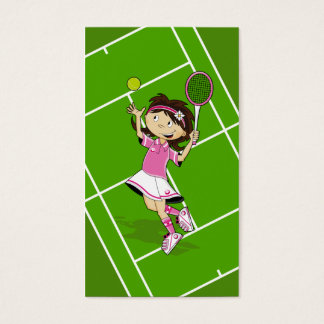 Tennis Girl Bookmark Business Card