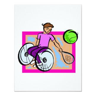 Tennis Girl Card