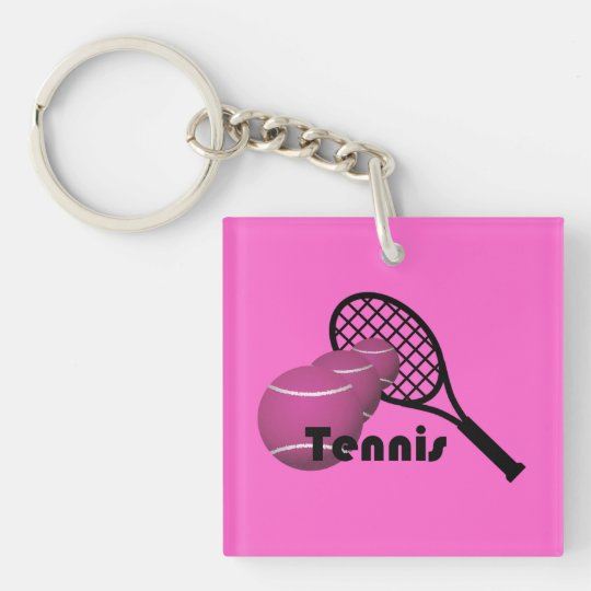Tennis Girl Keychain