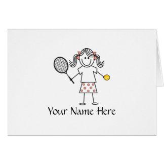 Tennis Girl Notes Card
