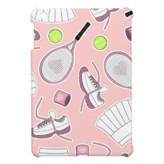 Tennis Girl Pattern Pink Background iPad Mini Covers