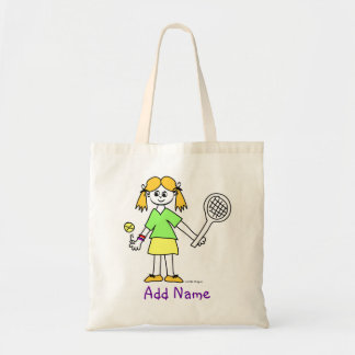 Tennis Girl Personalized Tote Bag