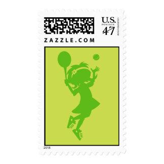 Tennis Girl Postage Stamp