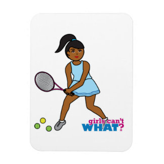 Tennis Girl Rectangular Magnet